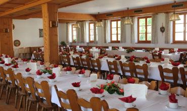 Der Festsaal im Gasthaus Hilger